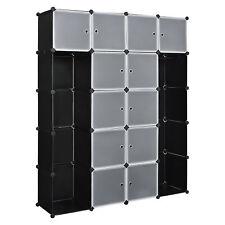 System Regal Schrank + Türen 190x150cm Schwarz/Weiß Steck Büro Bücherregal