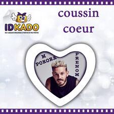 Coussin Coeur M POKORA personnalisé avec PRENOM  réf:CC12 décoration chambre