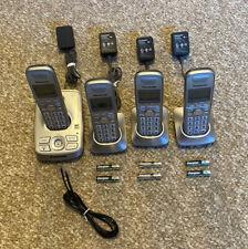 4 Phones Panasonic Kx-Tg4224 Cordless W/Answer Machine 4-Chargers 8-Batteries