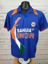 Nike Dry Fit Sahara India Cricket Team Jersey Orange & Blue Men's Size 36