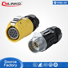 CNLinko M20 12 Pin 20A Circular Industrial Plug Waterproof Cable Power Connector