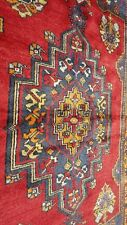 Rare Antique 1930-1940s Natural Dyed 4x8ft Wool Pile,Tribal Dowry Rug Turkey