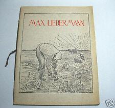 Max Liebermann.Eine Kunstgabe von vierzehn Bildern.1910 Geleitwort Wilhelm Burr