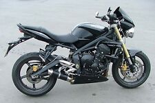 Street Triple 07-12 SP Engineering Satin Black Stubby Moto GP 3-1 Exhaust