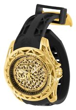 TechnoMarine Tm-318017 Technocell 47mm Automatic Gold Watch With Black Strap