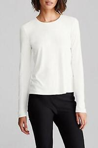 NEW Eileen Fisher crew Neck Jersey Long sleeves Top in White - size S