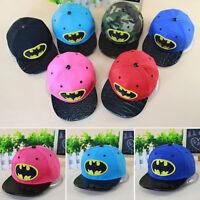 Kids Boys Batman Baseball Cap Hip-hop Snapback Superhero Sun Hat Adjustable