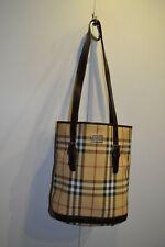 Burberry Check Novacheck Barrell Bucket Bag Full Monogram Design