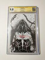 Venom # 27 Virgin CGC SS 9.8 - Signed by Tyler Kirkham B&W Sketch 1st Full Codex
