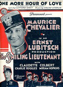 Vintage Feuille Musique Maurice Chevalier dans Le Souriant Lieutenant