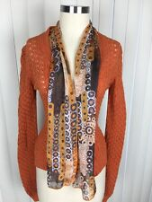 Authentic Dolce Gabana Women's Wool Blend Built In Scarf Cardigan Sweater Small