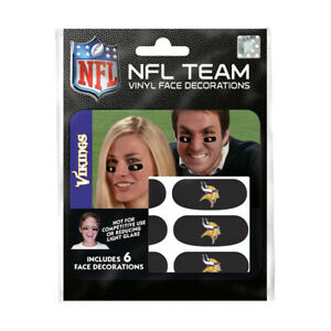 Minnesota Vikings 6er Fan Tattoo Face Sticker NFL Football New