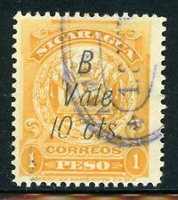 Nicaragua Used Bluefields Specialized: MAXWELL #LB154 10c/1P Oval Cancel $$$