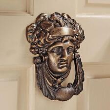 19th-century British Athena Minerva Iron Door Knocker Replica Reproduction