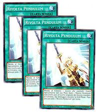 set 3x RIVOLTA PENDULUM Pendulum Rising CROS-IT064 Comune in Italiano YUGIOH