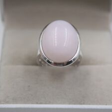Sterling S925 Silver Rose Quartz Ring Women Perfect Oval Ring US7