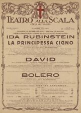 Nijinska Bolero Ida Rubinstein, Italy, 1929, Vintage Ballet Poster