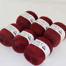 6Ballsx50g Pure Sable Cashmere Hand Knitwear Wool Shawls Soft Crochet Yarn 19