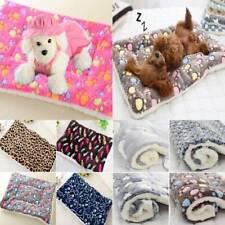Pets Cats Dogs Puppy Paw Print Fleece Mat Soft Warm Blanket Bed Cushion Mattress