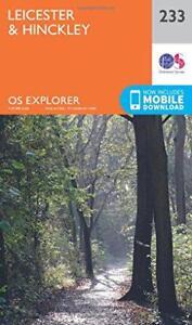 OS Explorer Mappa (233) Leicester E Hinckley Da Ordnance Survey,Nuovo