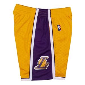 Los Angeles Lakers 2009 NBA Mitchell & Ness Swingman Shorts - Yellow/Purple