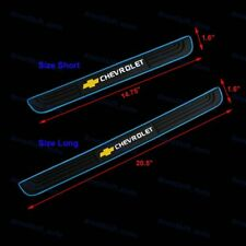 Blue Border Rubber Car Door Scuff Sill Cover Panel Step Protector For Chevrolet