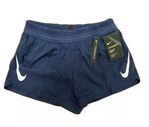 """$80 Nike Aeroswift Running Racing Shorts Navy 2"""" AQ5257-410 Men's Size XL"""