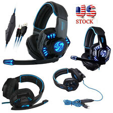 Noswer Professional Gaming Headset LED Light Earphone Headphone with Microphone