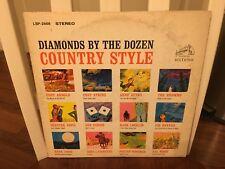 Diamonds By the Dozen Country Style LP RCA Victor 1963 VG+ [Don Gibson Hank Snow