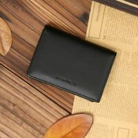Mini Men's Genuine Leather Wallet Bifold ID Credit Card Holder Purse Money Clip
