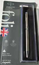 "PARKER FOLIO STAINLESS STEEL CT BALL PEN, TWIST MECHANISM, BLUE- ""New Launched"""