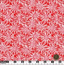 Quilting Tessuto FIORI BIANCHI SFONDO ROSSO 100% cotone | GRASSO QS | RF21 |