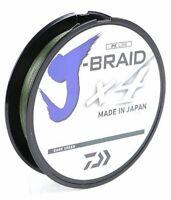 Daiwa J-Braid X4 Braided Fishing Line 300 Yards Dark Green Fishing Line