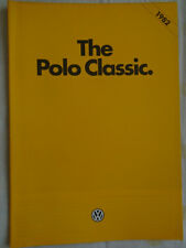 VW Polo Classic range brochure 1982 pub Feb 1982