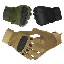 Mens Tactical Combat Hard Knuckle Gloves Army Military Security Police Duty Work