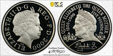 Great Britain 2000 silver proof £5 Queen mother S_L8 PCGS PR69DCAM