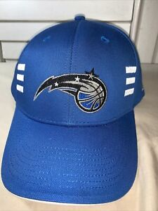 Orlando Magic NBA Adidas Solid Blue Curve Brim Visor Hat Cap Adjustable Strap