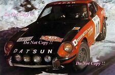 Rauno Aaltonen Datsun 240Z Monte Carlo Rally 1973 Photograph 2