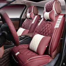 Luxus 5-sitz Mikrofaser Auto Sitzkissen`Vorder/Rückseite Sitzbezüge 5 Frabe Hot