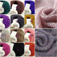 Sale New 1BallsX50g Luxury Fancy Soft Mohair Warm Wrap Hand Knit Crochet Yarn