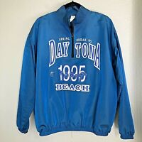 Daytona Beach Florida Blue Spring Break Satin Pullover Vintage One Size     1571