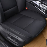 PU Black Full Surround Leather Car Front Seat Cover Breathable Chair Cushion A