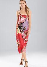 NATORI Private Luxuries MIKADO Gown Pajama L NWT $120 Red Floral Satin