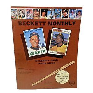Vtg January 1985 BECKETT BASEBALL MONTHLY Willie Mays Roberto Clemente Vol.2#1