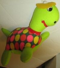 "Vintage Unusual Turtle cloth plush 12"", Brooklyn Doll & Toy, made in Korea"