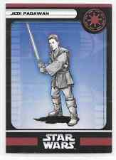2006 Star Wars Miniatures Jedi Padawan Stat Card Only Swm Mini