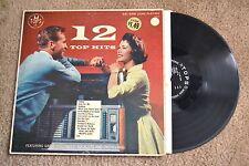 12 Top Hits Juke Box Oldies Rock Record LP VG