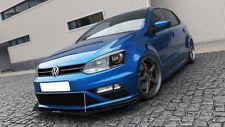 Cup Spoilerlippe VW Polo GTI 6R Front Spoiler Schwert Splitter tie bars DTM Neu