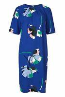 NEW Ex M&S Royal Blue Multicolour Floral Womens Tunic Short Sleeve Dress