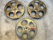 "1 Vintage 35mm Film Reel 10"" Movie Projector Steel Reels With 5f Free Film. Gold"